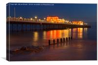 Worthing Pier Night, Canvas Print