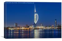 Portsmouth Harbour and The Spinnaker Tower, Canvas Print