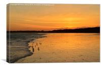West Beach, Littlehampton, West Sussex sunset, Canvas Print