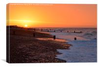 Ferring Beach, Worthing sunrise, Canvas Print