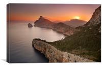 Cap de Formentor sunrise, Canvas Print