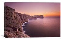 Cap de Formentor sunset, Canvas Print