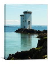 Carraig Fhada Lighthouse, Islay, Canvas Print