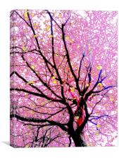 Psychadellic tree, Canvas Print