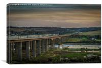 HS1  Highspeed Train  Crosses The Medway Viaduct, Canvas Print