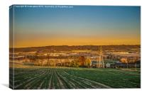 North Downs Kent - Medway Valley, Canvas Print