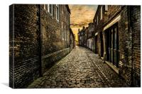Old Cobble Street, Canvas Print