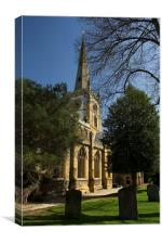 Stratford upon Avon Church, Canvas Print