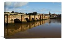 Berwick on Tweed, Old Road Bridge, Canvas Print