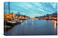 Amsterdam canal, Canvas Print