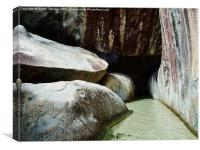 Caves leading to Devil's Bay. , Canvas Print