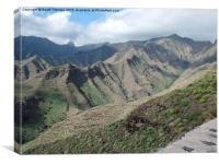 Volcanic Island, La Gomera , Canvas Print