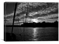 Tenby sunset, Canvas Print