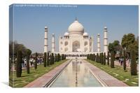 Taj Mahal, India, Agra, Canvas Print