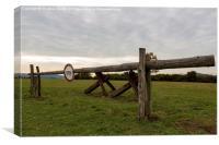 Point Alpha, Border, Turnpike, Tank, Barrier, стоп, Canvas Print