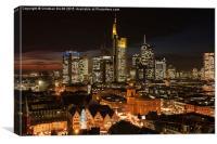 Frankfurt, Germany, Skyline, Canvas Print