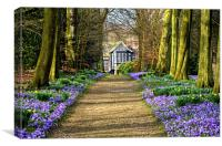 The Old Hall in Spring, Canvas Print