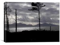 Snowdonia Silhouette, Canvas Print