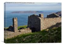 Great Orme over quarry building, Canvas Print