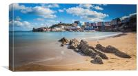 Tenby Harbour at High Tide, Canvas Print
