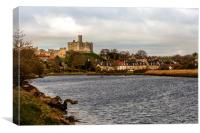 Warkworth and the banks of the Coquet river, Canvas Print