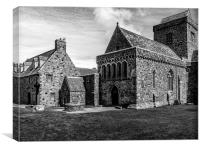 The Abbey on The Isle of Iona, Canvas Print