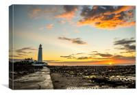 Lighthouse on a beautiful morning........, Canvas Print