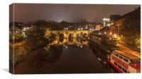 Old Elvet Bridge - Durham , Canvas Print
