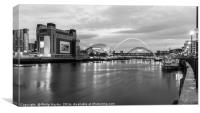 The Baltic Flour Mill by the River Tyne, Canvas Print