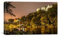 Riverside by Night........, Canvas Print