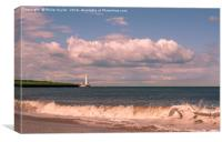 Lighthouse and Waves.............., Canvas Print