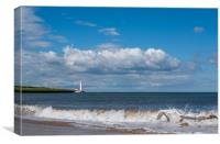 Waves and The Lighthouse............, Canvas Print
