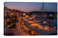 Fiskardo by Night.................., Canvas Print