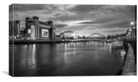 Evening song on the Quayside....., Canvas Print
