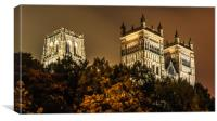 Night at the Cathedral......., Canvas Print