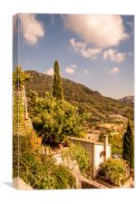 Monastery at Valldemossa View....., Canvas Print