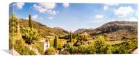 Panoramic View from the Monastery at Valldemossa , Canvas Print