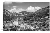 A view over Valldemossa , Canvas Print