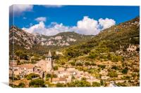 Valldemossa view from the town, Canvas Print
