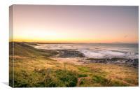 Beautiful Bamburgh Beach View, Canvas Print
