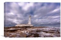 Standing Proudly St. Mary's Lighthouse, Canvas Print