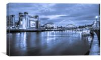 Quayside in Blue, Canvas Print