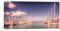 Lanzarote's Beautiful Rubicon Marina , Canvas Print