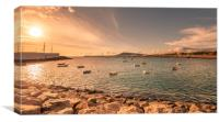 Sunset at Playa Blanca, Canvas Print