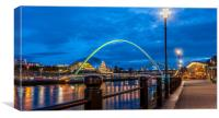 Newcastle Quayside at Night, Canvas Print