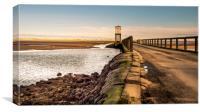 Refuge of Lindisfarne Causeway, Canvas Print