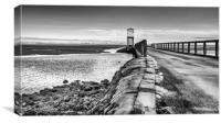 Refuge of Lindisfarne Causeway in Mono, Canvas Print