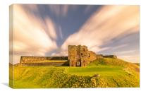 Majestic Ruins of Tynemouth Castle , Canvas Print