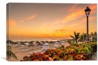 Sun Sets at Playa del Duque, Canvas Print