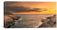 Beautiful sunset over the sea from Costa Adeje , Canvas Print